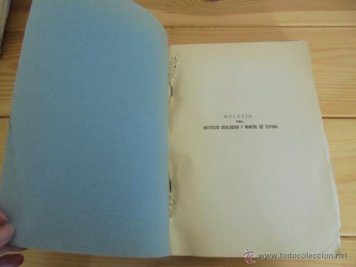 Libros de segunda mano: INSTITUTO GEOLOGICO Y MINERO DE ESPAÑA 7 TOMOS. MAPA GEOLOGICO DE ESPAÑA HOJA DE CANTILLANA. VER FOT - Foto 54 - 50677268