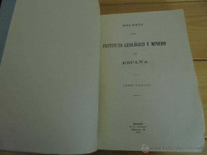 Libros de segunda mano: INSTITUTO GEOLOGICO Y MINERO DE ESPAÑA 7 TOMOS. MAPA GEOLOGICO DE ESPAÑA HOJA DE CANTILLANA. VER FOT - Foto 56 - 50677268
