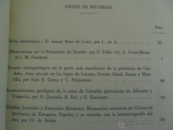 Libros de segunda mano: INSTITUTO GEOLOGICO Y MINERO DE ESPAÑA 7 TOMOS. MAPA GEOLOGICO DE ESPAÑA HOJA DE CANTILLANA. VER FOT - Foto 57 - 50677268