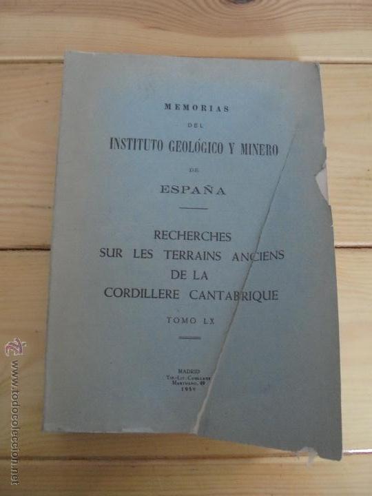 Libros de segunda mano: INSTITUTO GEOLOGICO Y MINERO DE ESPAÑA 7 TOMOS. MAPA GEOLOGICO DE ESPAÑA HOJA DE CANTILLANA. VER FOT - Foto 68 - 50677268