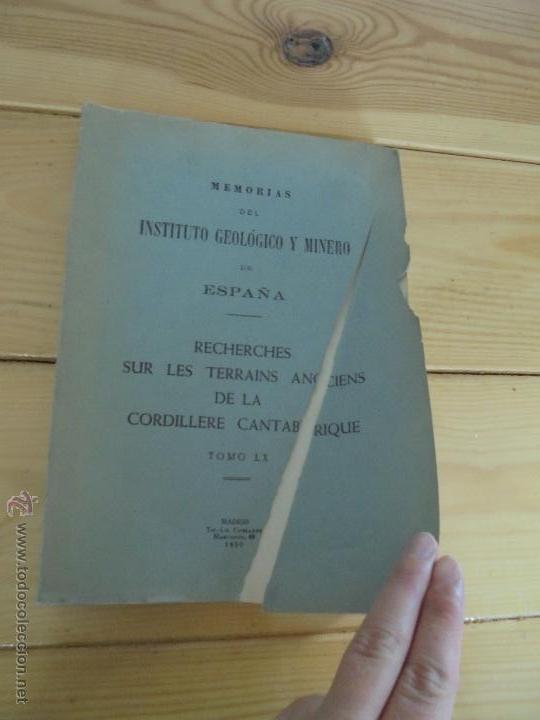 Libros de segunda mano: INSTITUTO GEOLOGICO Y MINERO DE ESPAÑA 7 TOMOS. MAPA GEOLOGICO DE ESPAÑA HOJA DE CANTILLANA. VER FOT - Foto 69 - 50677268