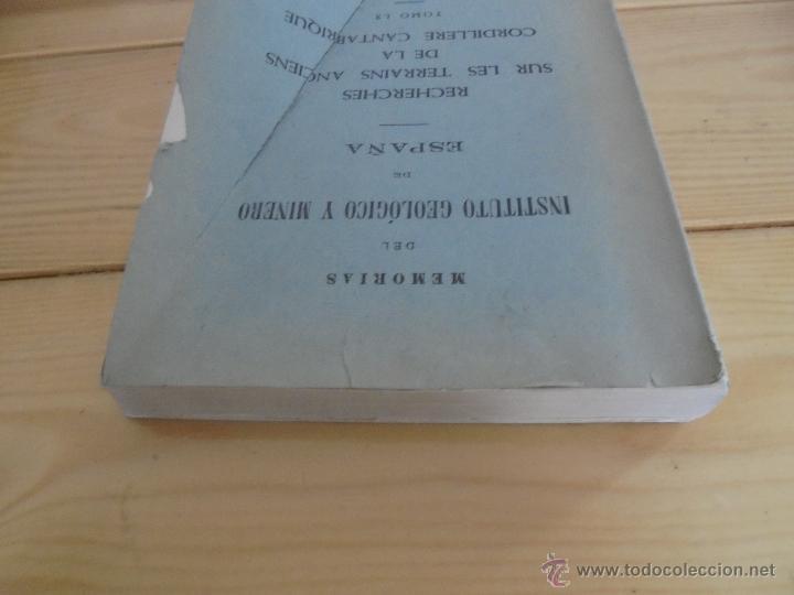 Libros de segunda mano: INSTITUTO GEOLOGICO Y MINERO DE ESPAÑA 7 TOMOS. MAPA GEOLOGICO DE ESPAÑA HOJA DE CANTILLANA. VER FOT - Foto 72 - 50677268