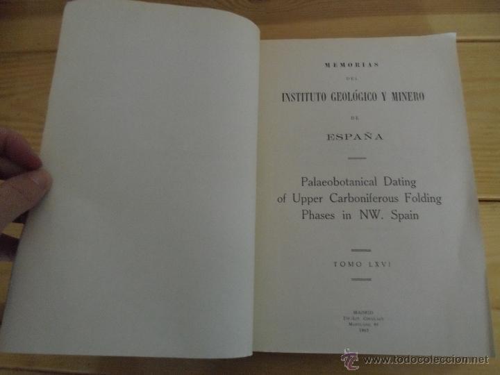 Libros de segunda mano: INSTITUTO GEOLOGICO Y MINERO DE ESPAÑA 7 TOMOS. MAPA GEOLOGICO DE ESPAÑA HOJA DE CANTILLANA. VER FOT - Foto 91 - 50677268