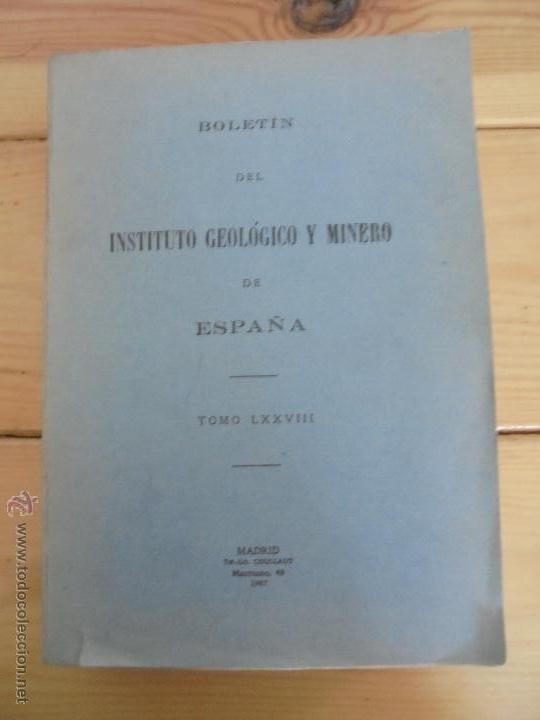 Libros de segunda mano: INSTITUTO GEOLOGICO Y MINERO DE ESPAÑA 7 TOMOS. MAPA GEOLOGICO DE ESPAÑA HOJA DE CANTILLANA. VER FOT - Foto 127 - 50677268