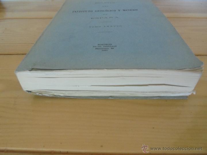 Libros de segunda mano: INSTITUTO GEOLOGICO Y MINERO DE ESPAÑA 7 TOMOS. MAPA GEOLOGICO DE ESPAÑA HOJA DE CANTILLANA. VER FOT - Foto 128 - 50677268