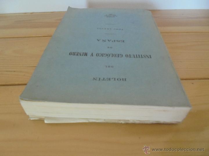 Libros de segunda mano: INSTITUTO GEOLOGICO Y MINERO DE ESPAÑA 7 TOMOS. MAPA GEOLOGICO DE ESPAÑA HOJA DE CANTILLANA. VER FOT - Foto 130 - 50677268