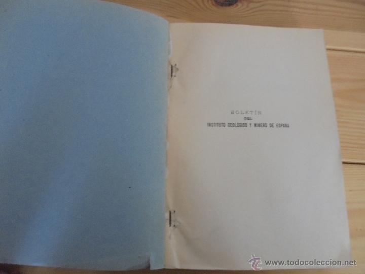 Libros de segunda mano: INSTITUTO GEOLOGICO Y MINERO DE ESPAÑA 7 TOMOS. MAPA GEOLOGICO DE ESPAÑA HOJA DE CANTILLANA. VER FOT - Foto 131 - 50677268