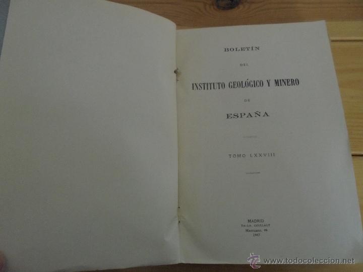 Libros de segunda mano: INSTITUTO GEOLOGICO Y MINERO DE ESPAÑA 7 TOMOS. MAPA GEOLOGICO DE ESPAÑA HOJA DE CANTILLANA. VER FOT - Foto 132 - 50677268