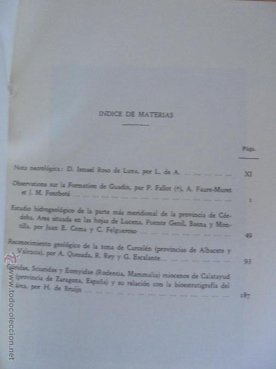 Libros de segunda mano: INSTITUTO GEOLOGICO Y MINERO DE ESPAÑA 7 TOMOS. MAPA GEOLOGICO DE ESPAÑA HOJA DE CANTILLANA. VER FOT - Foto 133 - 50677268