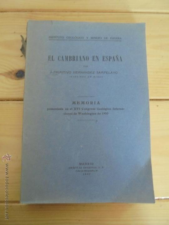 Libros de segunda mano: INSTITUTO GEOLOGICO Y MINERO DE ESPAÑA 7 TOMOS. MAPA GEOLOGICO DE ESPAÑA HOJA DE CANTILLANA. VER FOT - Foto 143 - 50677268
