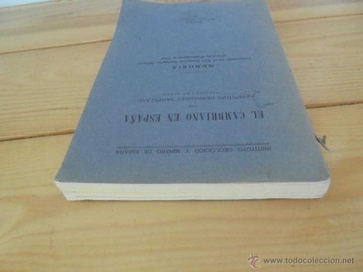 Libros de segunda mano: INSTITUTO GEOLOGICO Y MINERO DE ESPAÑA 7 TOMOS. MAPA GEOLOGICO DE ESPAÑA HOJA DE CANTILLANA. VER FOT - Foto 146 - 50677268