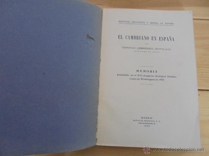 Libros de segunda mano: INSTITUTO GEOLOGICO Y MINERO DE ESPAÑA 7 TOMOS. MAPA GEOLOGICO DE ESPAÑA HOJA DE CANTILLANA. VER FOT - Foto 148 - 50677268