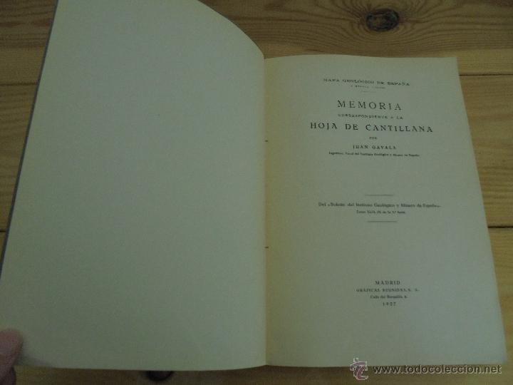 Libros de segunda mano: INSTITUTO GEOLOGICO Y MINERO DE ESPAÑA 7 TOMOS. MAPA GEOLOGICO DE ESPAÑA HOJA DE CANTILLANA. VER FOT - Foto 163 - 50677268