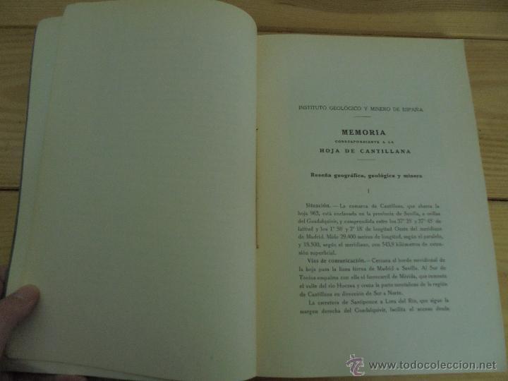 Libros de segunda mano: INSTITUTO GEOLOGICO Y MINERO DE ESPAÑA 7 TOMOS. MAPA GEOLOGICO DE ESPAÑA HOJA DE CANTILLANA. VER FOT - Foto 164 - 50677268