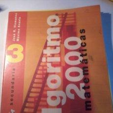 Libros de segunda mano de Ciencias: MATEMÁTICAS ALGORITMO 2000. SECUNDARIA 3. JOSE R. VIZMANOS MÁXIMO ANZOLA EST21B6. Lote 50992009