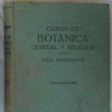 Livros em segunda mão: CURSO DE BOTÁNICA GENERAL Y APLICADA - GILG / SCHÜRHOFF - ED. LABOR 1959 - VER INDICE. Lote 51120532