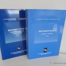 Libros de segunda mano de Ciencias: MATEMATICAS 1 ECONOMIA Y EMPRESA TEORIA Y PROBLEMAS RESUELTOS. ED. RAMON ARECES. VER FOTOGRAFIAS.. Lote 51637435