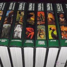 Libros de segunda mano: HISTORIA NATURAL, 10 VOL. 3500 PP. FLORA 2 TOMOS,FAUNA 4 TOMOS,RAZAS 3,GEOLOGIA 1, SIMIL PIEL VERDE. Lote 51689654