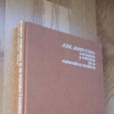 Libros de segunda mano de Ciencias: CONCEPTOS Y MÉTODOS DE LA MATEMÁTICA MODERNA; JOSÉ JAVIER ETAYO. Lote 51965123