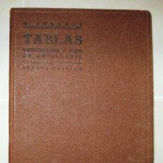 Libros de segunda mano de Ciencias: TABLAS.TOPOGRAFÍA Y TIRO DE ARTILLERIA.ANTONIO JULIANI.EDITORIAL DOSSAT S.A.MAD 1945.4ª ED.. Lote 52490894