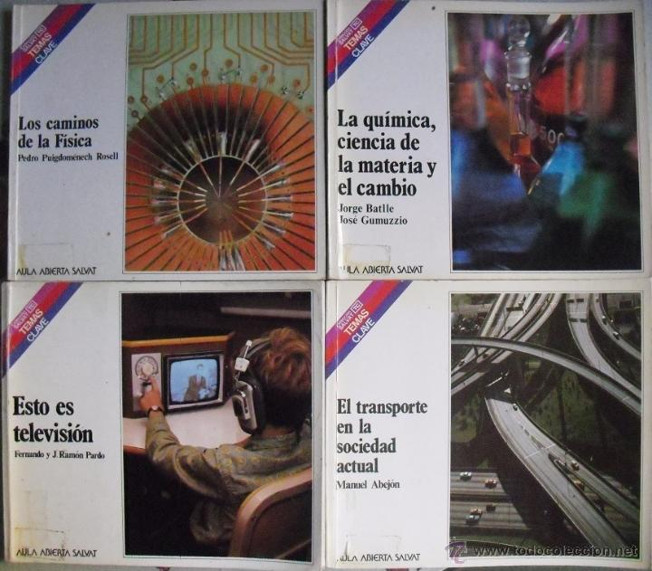 CUATRO LIBROS DE LA COLECCIÓN ''TEMAS CLAVE'' DE SALVAT (1981-1984) (Libros de Segunda Mano - Ciencias, Manuales y Oficios - Física, Química y Matemáticas)