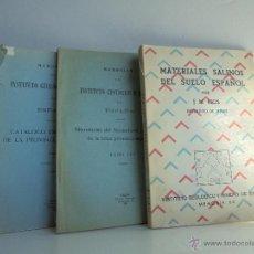 Libros de segunda mano: CATALOGO ESPEOLOLOGICO DE LA PROVINCIA DE VALENCIA. INSTITUTO GEOLOGICO Y MINERO DE ESPAÑA. 3 LIBROS. Lote 52806978
