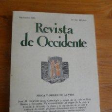 Libros de segunda mano de Ciencias: REVISTA DE OCCIDENTE.SEPTIEMBRE 1985. Nº 52. FISICA Y ORIGEN E LA VIDA 154 PP.. Lote 52870899
