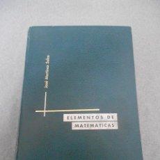 Libros de segunda mano de Ciencias: ELEMENTOS DE MATEMATICAS. Lote 53085201