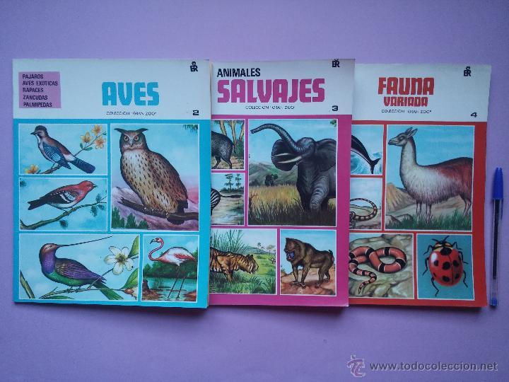 LOTE DE 3 LIBROS COLECCION GRAN ZOO, AVES, FAUNA SALVAJE Y FAUNA VARIADA, EDITORIAL ROMA,1980 (Libros de Segunda Mano - Ciencias, Manuales y Oficios - Biología y Botánica)