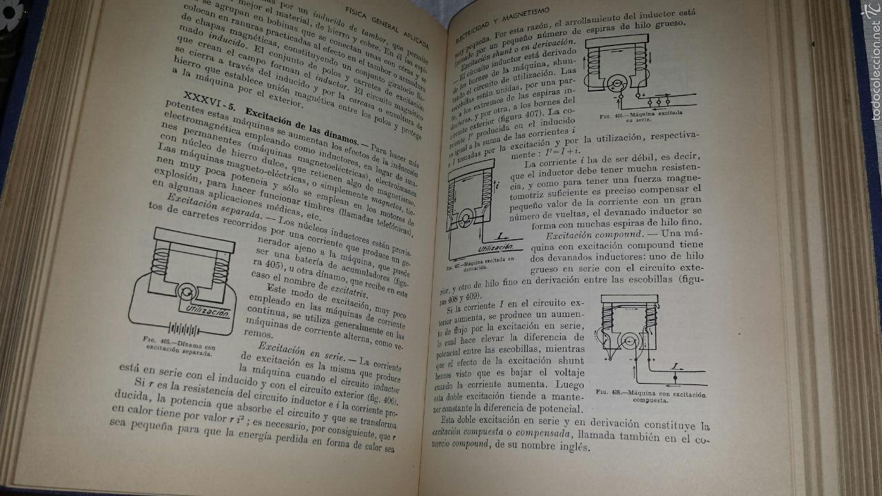 Libros de segunda mano de Ciencias: FISICA GENERAL APLICADA. RAMON SOPENA. FRANCISCO F. SINTES OLIVES 1957 - Foto 4 - 53184134