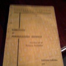 Libros de segunda mano de Ciencias: EJERCICIOS DE FORMULACIÓN QUIMICA. BASADOS EN EL SISTEMA PERIÓDICO. FERNANDO RUBÍN EST20B4. Lote 53232233