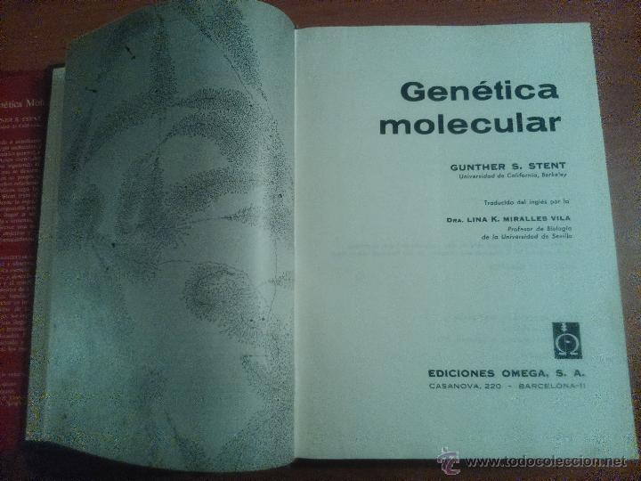 Libros de segunda mano: Genética Molecular Gunther S. Stent. - Foto 2 - 53241062