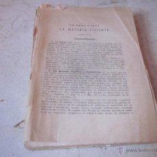 Libros de segunda mano: BIOLOGIA GENERAL TOMO PRIMERO - ALVARADO 1955. Lote 53247739