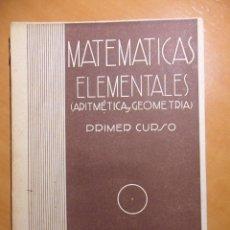 Libros de segunda mano de Ciencias: MATEMATICAS ELEMENTALES. PRIMER CURSO. POR ALFONSO GIRONZA. BARCELONA 1947. APROBADO POR EL MINISTER. Lote 53339101