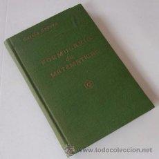 Libros de segunda mano de Ciencias: FORMULARIOS DE MATEMATICAS. Lote 53765062