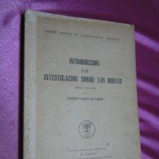 Libros de segunda mano: INVESTIGACION SOBRE LAS HULLAS INTRODUCCION , CARBON DE MINA. Lote 53862048