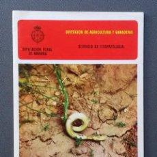 Libros de segunda mano: A106.- ALGUNAS PLAGAS Y ENFERMEDADES DE LOS CULTIVOS EN NAVARRA 1972 .- DIPUTACION FORAL DE NAVARRA. Lote 53994734