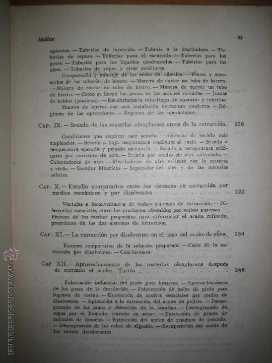 Libros de segunda mano de Ciencias: Aceites y grasas. Su extracción por disolventes y refinación industrial - Ramón Colom Virgili. - Foto 5 - 54103129