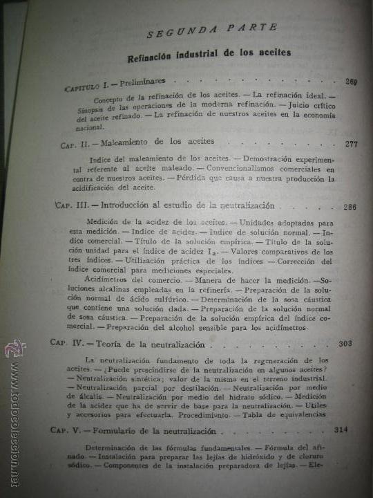 Libros de segunda mano de Ciencias: Aceites y grasas. Su extracción por disolventes y refinación industrial - Ramón Colom Virgili. - Foto 6 - 54103129