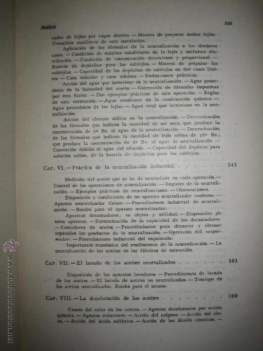 Libros de segunda mano de Ciencias: Aceites y grasas. Su extracción por disolventes y refinación industrial - Ramón Colom Virgili. - Foto 7 - 54103129