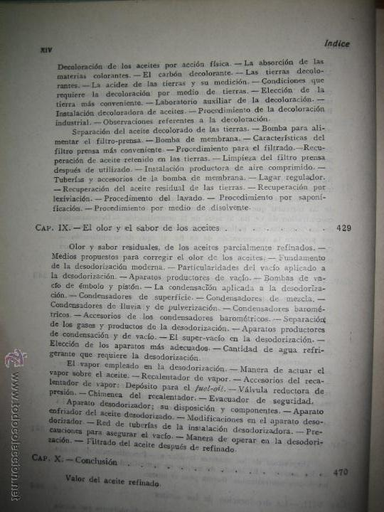 Libros de segunda mano de Ciencias: Aceites y grasas. Su extracción por disolventes y refinación industrial - Ramón Colom Virgili. - Foto 8 - 54103129