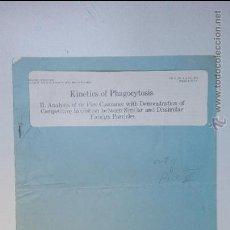 Libros de segunda mano de Ciencias: KINETICS OF PHAGOCYTOSIS, VOL 31, 1974, ACADEMY OF PATHOLOGY.. Lote 54143033