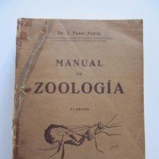 Libros de segunda mano: MANUAL DE ZOOLOGÍA J. FUSET TUBIÁ. CON ILUSTRACIONES. 1944. Lote 54271889