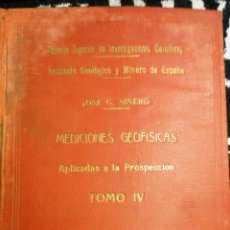 Libros de segunda mano: MEDICIONES GEOFÍSICAS IV. (JOSÉ Gª SIÑERIZ, 1949) DAÑADO.. Lote 54290881