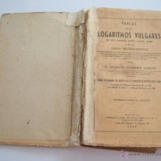 Libros de segunda mano de Ciencias: TABLAS DE LOGARITMOS VULGARES . Lote 54294315