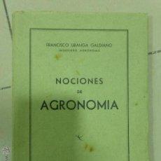 Libros de segunda mano - NOCIONES DE AGRONOMÍA, FRANCISCO URANGA GALDIANO. 2ª EDICIÓN. EDITORIAL GÓMEZ, PAMPLONA 1943 - 54294547
