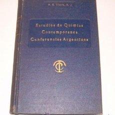 Libros de segunda mano de Ciencias: P. EDUARDO VITORIA, S. J. ESTUDIOS DE QUÍMICA CONTEMPORÁNEA. RM73243. . Lote 54349063