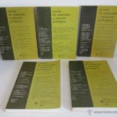Libros de segunda mano: REVISTA DE MATERIALES Y PROCESOS GEOLOGICOS. TOMOS DEL I AL V. ED.FAC. DE CIENCIAS GEOLOGICAS U.C.M. Lote 54392275