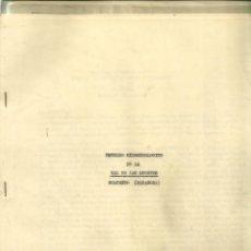 Libros de segunda mano: 2255.- ESTUDIO HIDROGEOLOGICO DE LA VAL DE LAS SUERTES-BELCHITE-ZARAGOZA. Lote 54610820