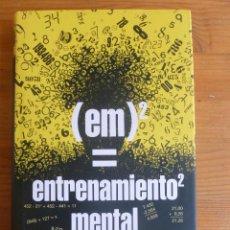 Libros de segunda mano de Ciencias: EM2=ENTRETENIMIENTO MENTAL. ALBERTO COBO. CIRCULO LECTORES. 2007 194 PP. Lote 54805857